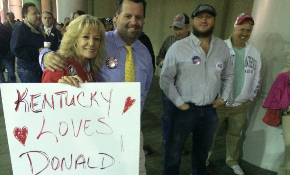 Viral video shows Trump supporters pushing woman at Louisville rally