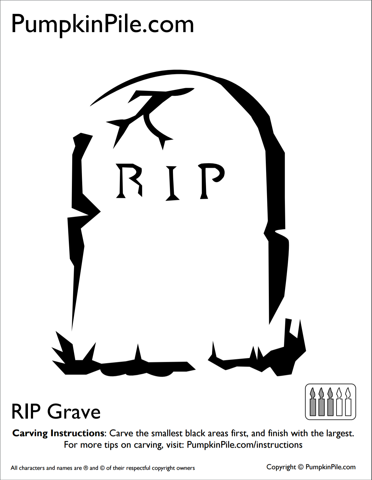 RIP Grave Click On The Image To Download Template