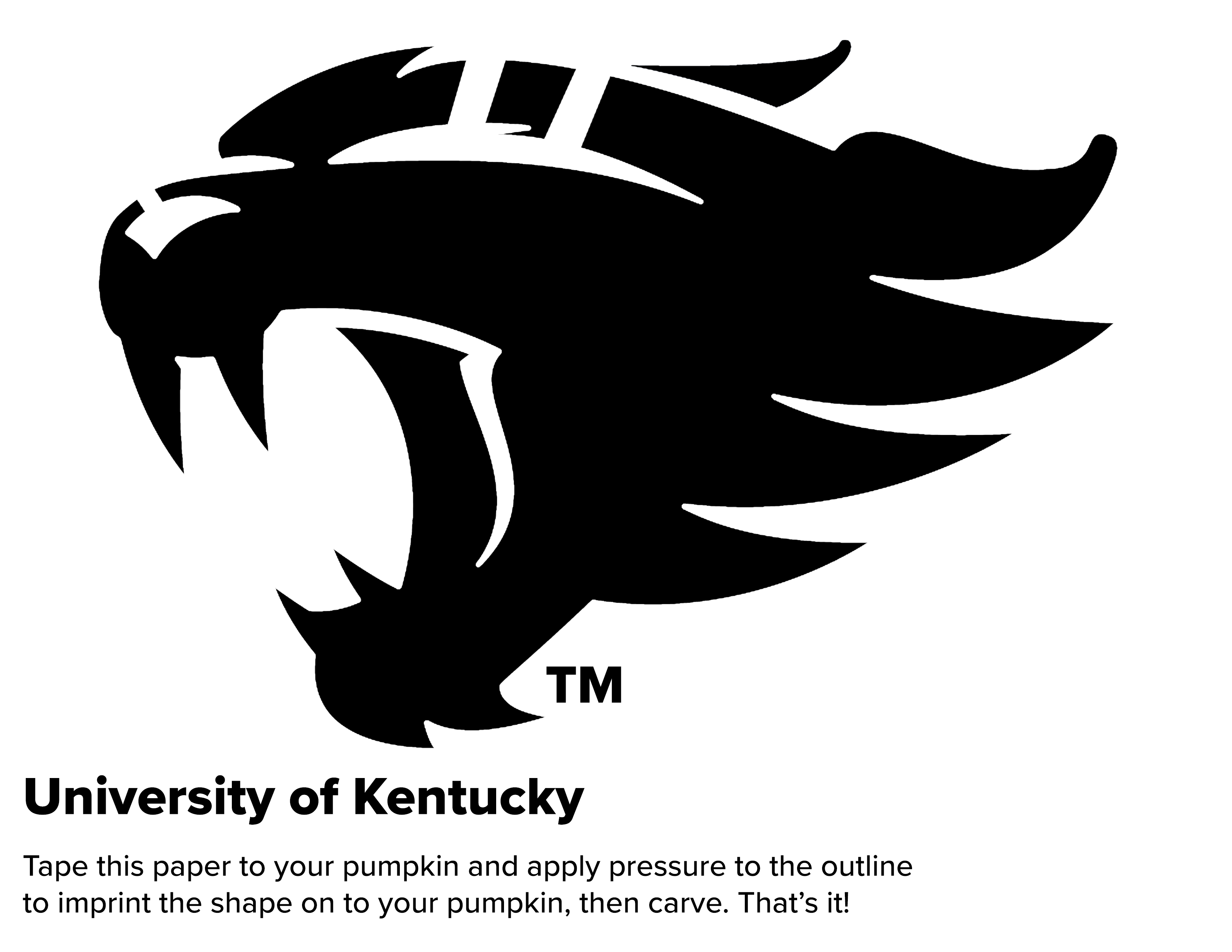 House Divided Pumpkin Carving Stencils For Uofl And Uk Fans