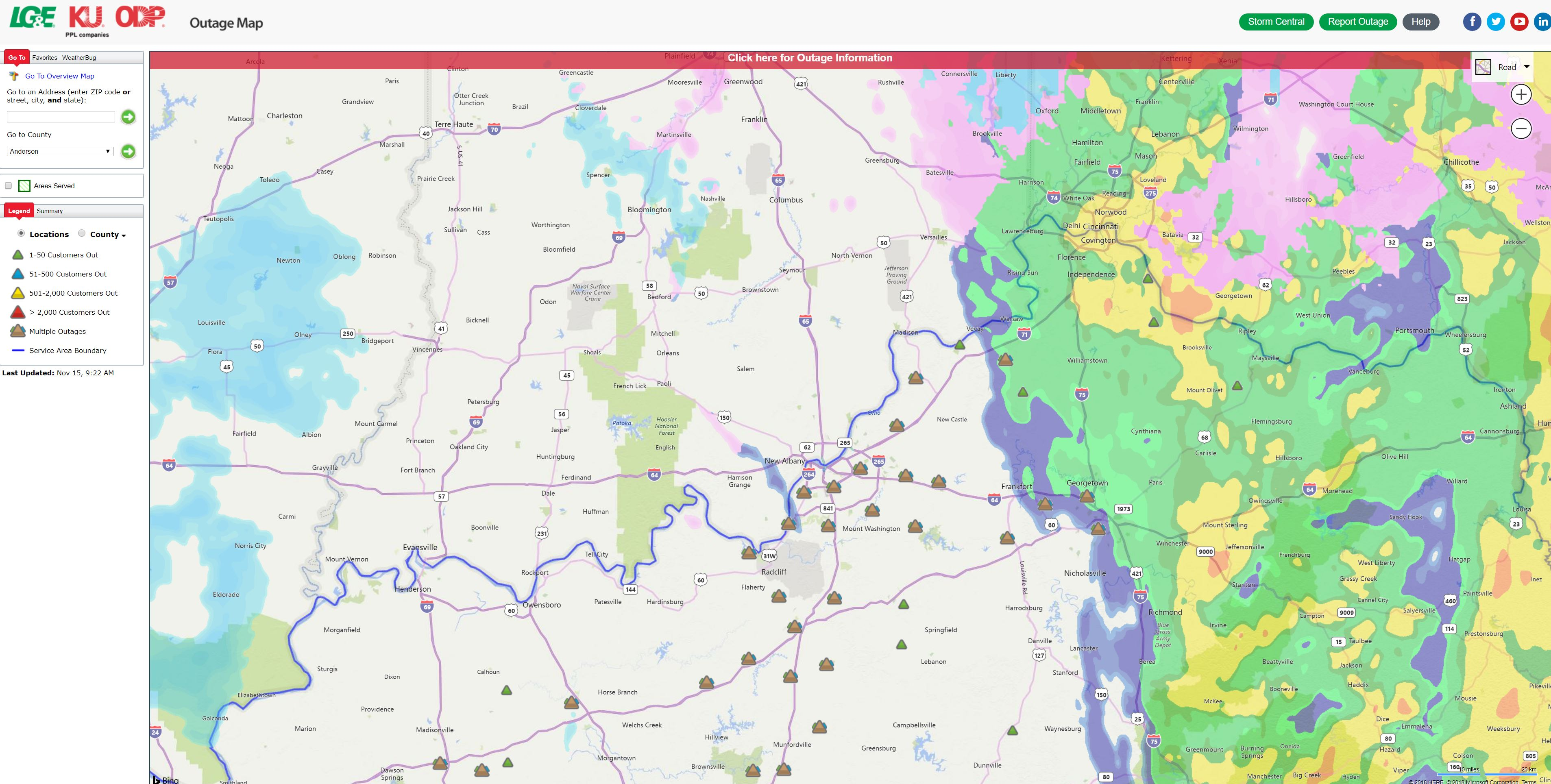Ky Power Outage Map.Power Out Check This Lg E Map For Info On Outages In Your Area